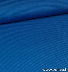 FM tricot geribbeld felblauw