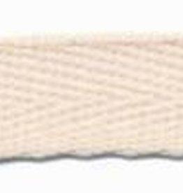 Ongebleekte katoen keperband 10mm