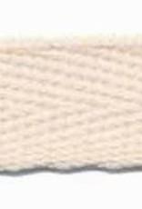Ecru katoenen keperband 10mm
