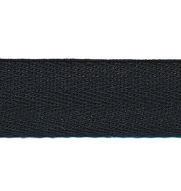 Zwart katoenen keperband 10mm