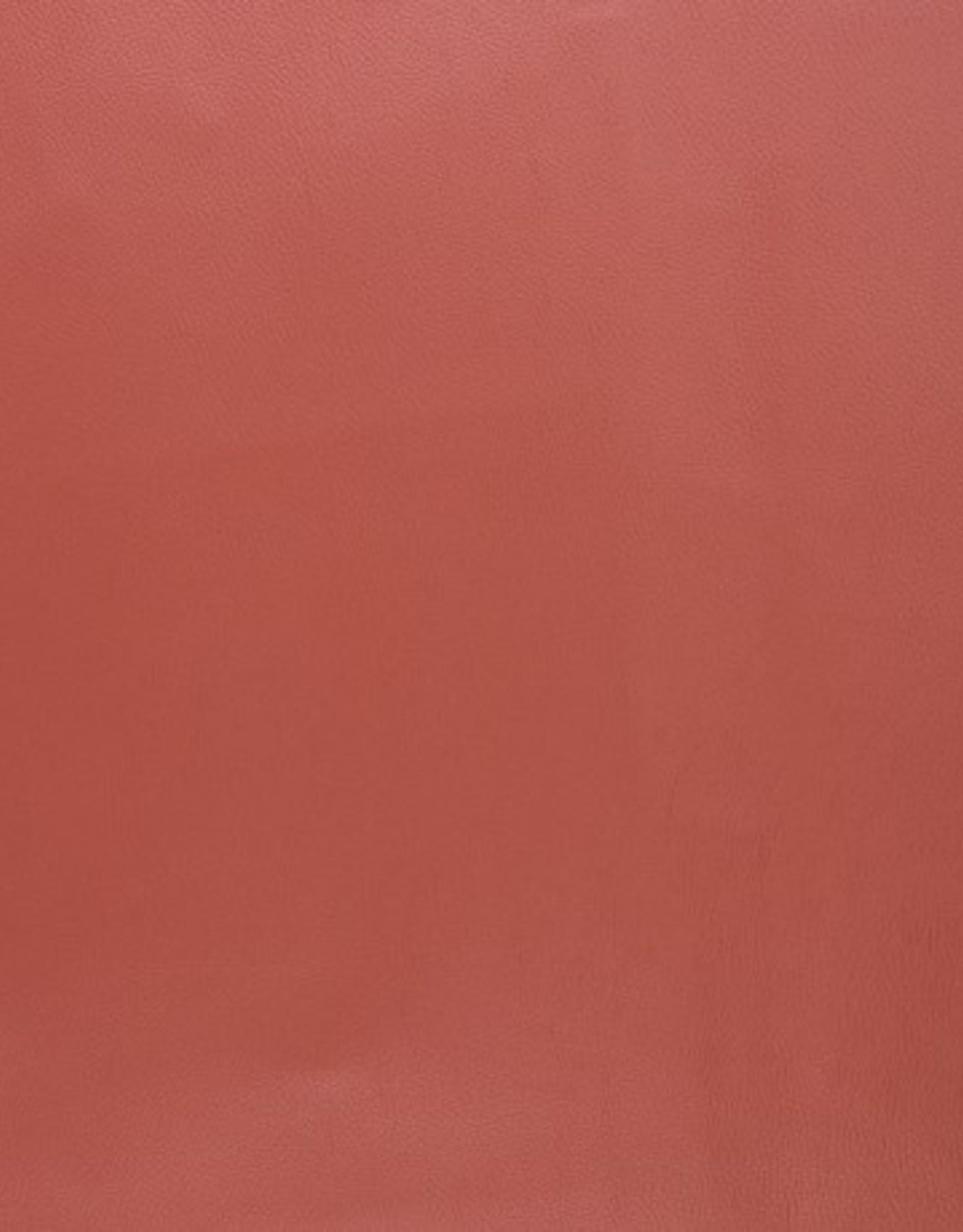 Faux leather metallic blood orange