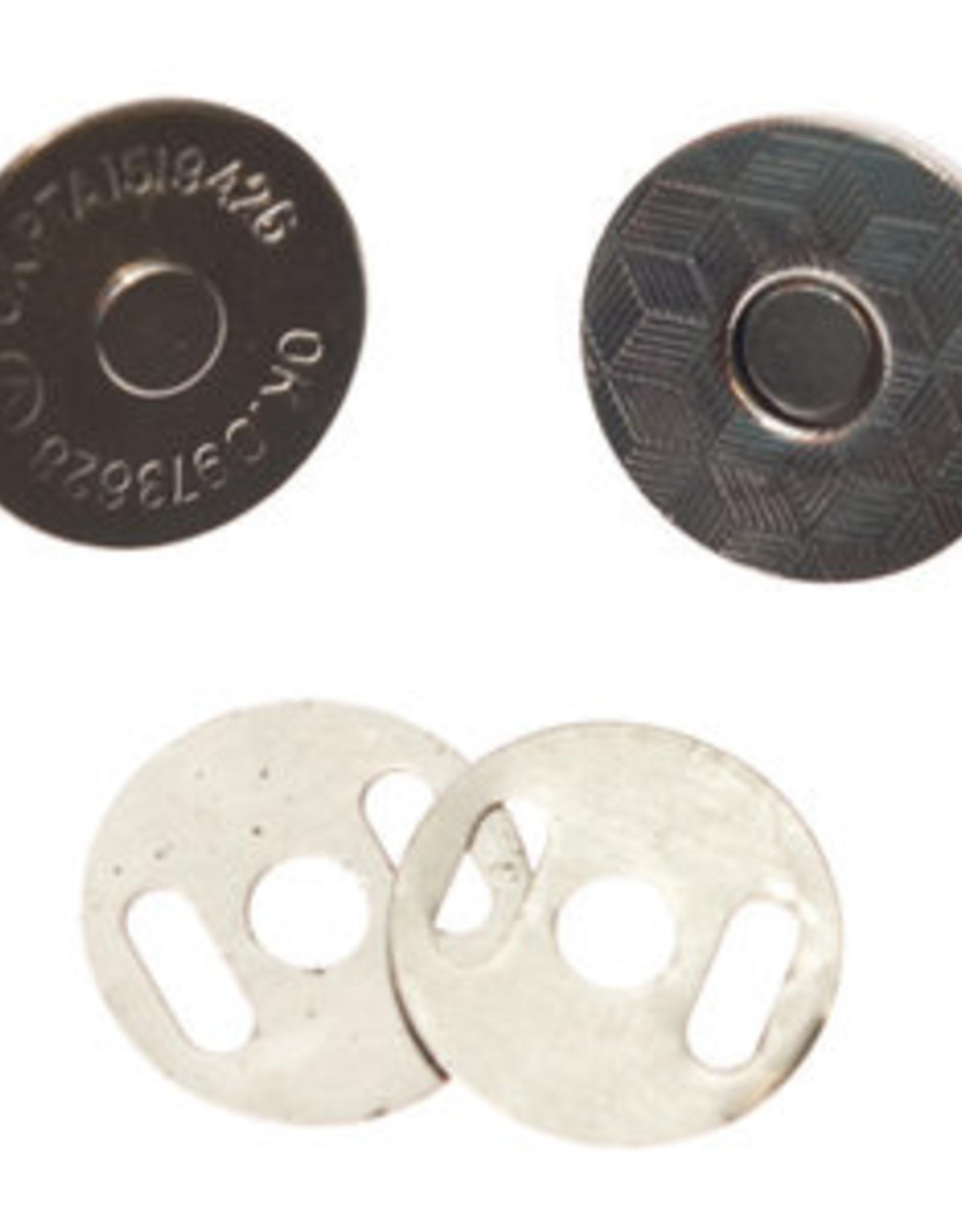 Magneetsluiting zilver 18mm extra plat en extra stevig