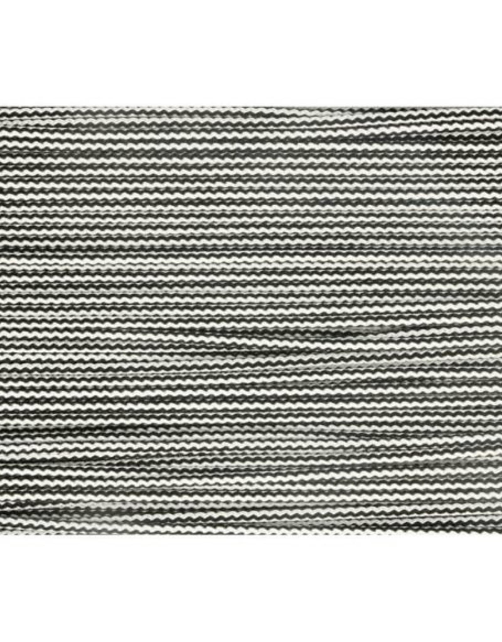 Koord 3mm zwartwit