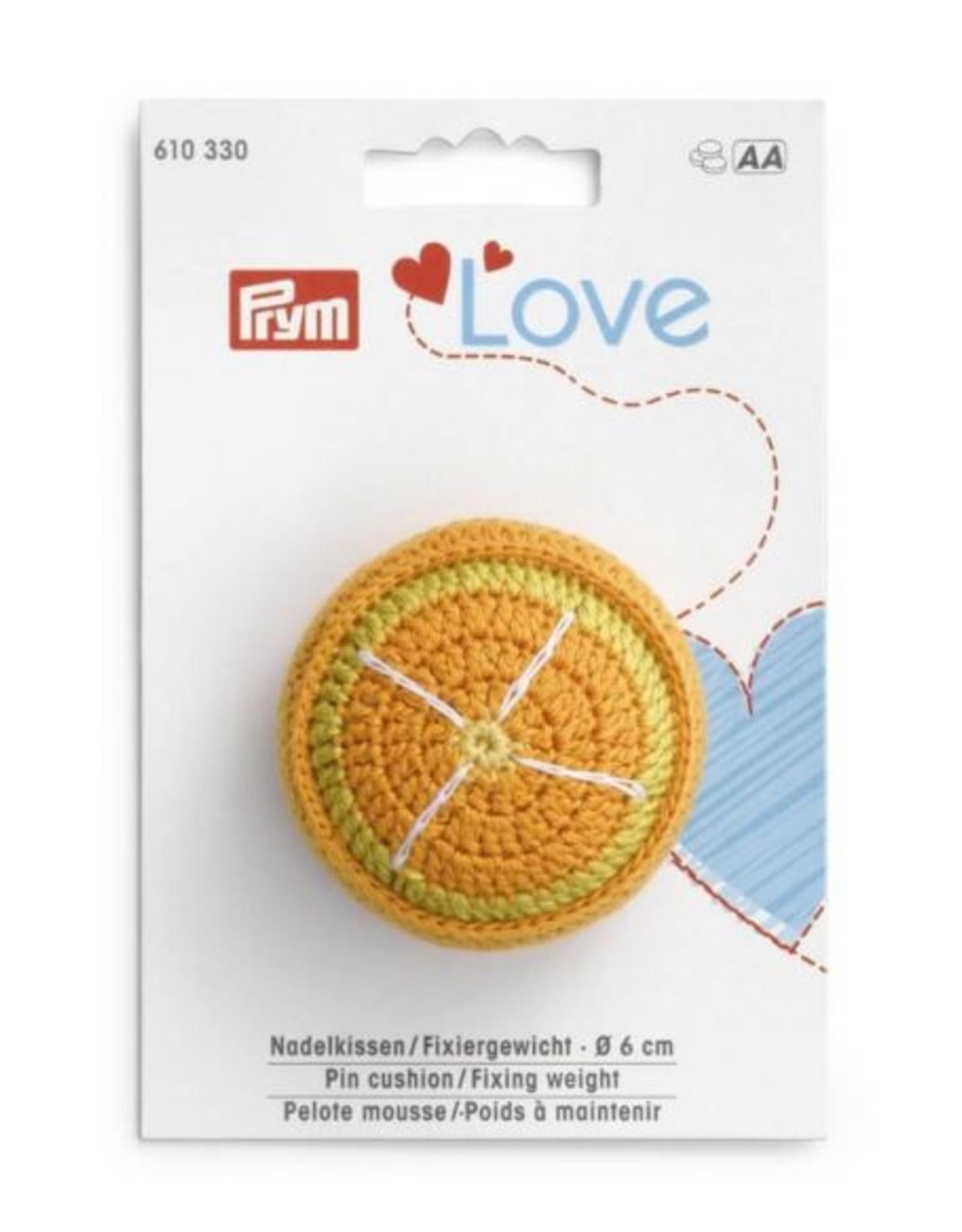 Prym Prym speldenkussen - fixeergewicht sinaasappel