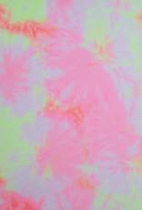 Power mesh tie dye fluo roze/geel