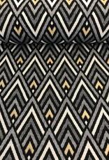 Driehoeken zwart goud