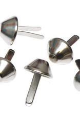 10x tasvoetje zilver 15mm