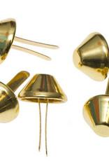 10x tasvoetje goud 15mm