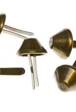 10x tasvoetje brons15mm