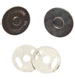 magneetsluiting 18mm zilver