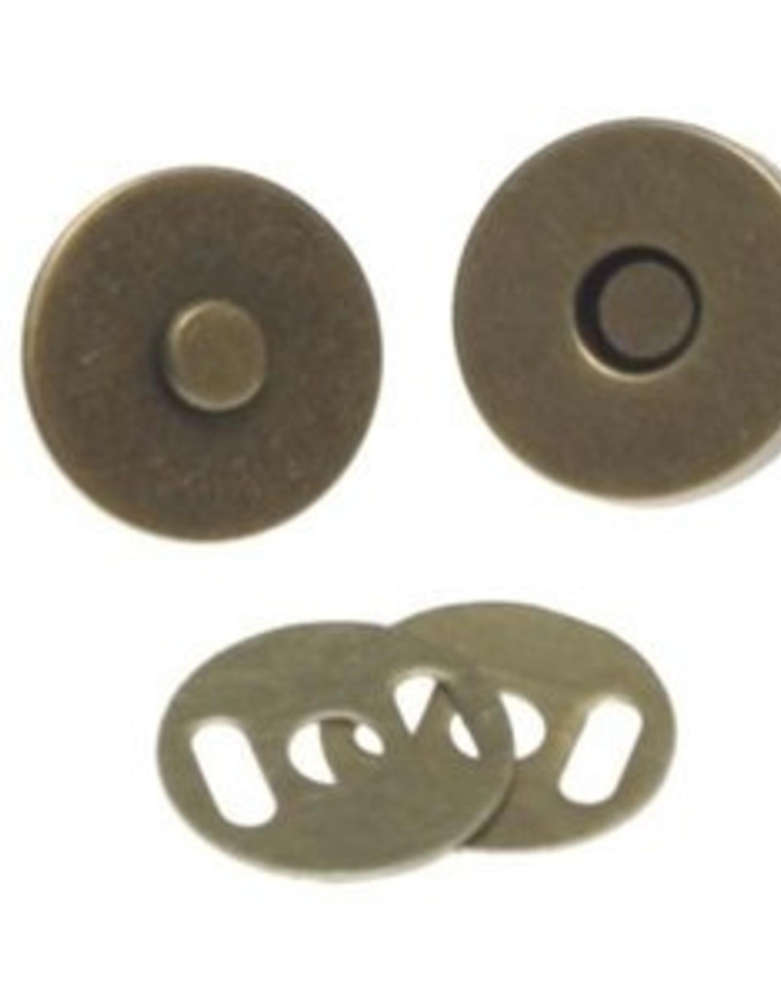 magneetsluiting 18mm brons
