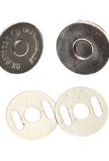 magneetsluiting 14mm zilver