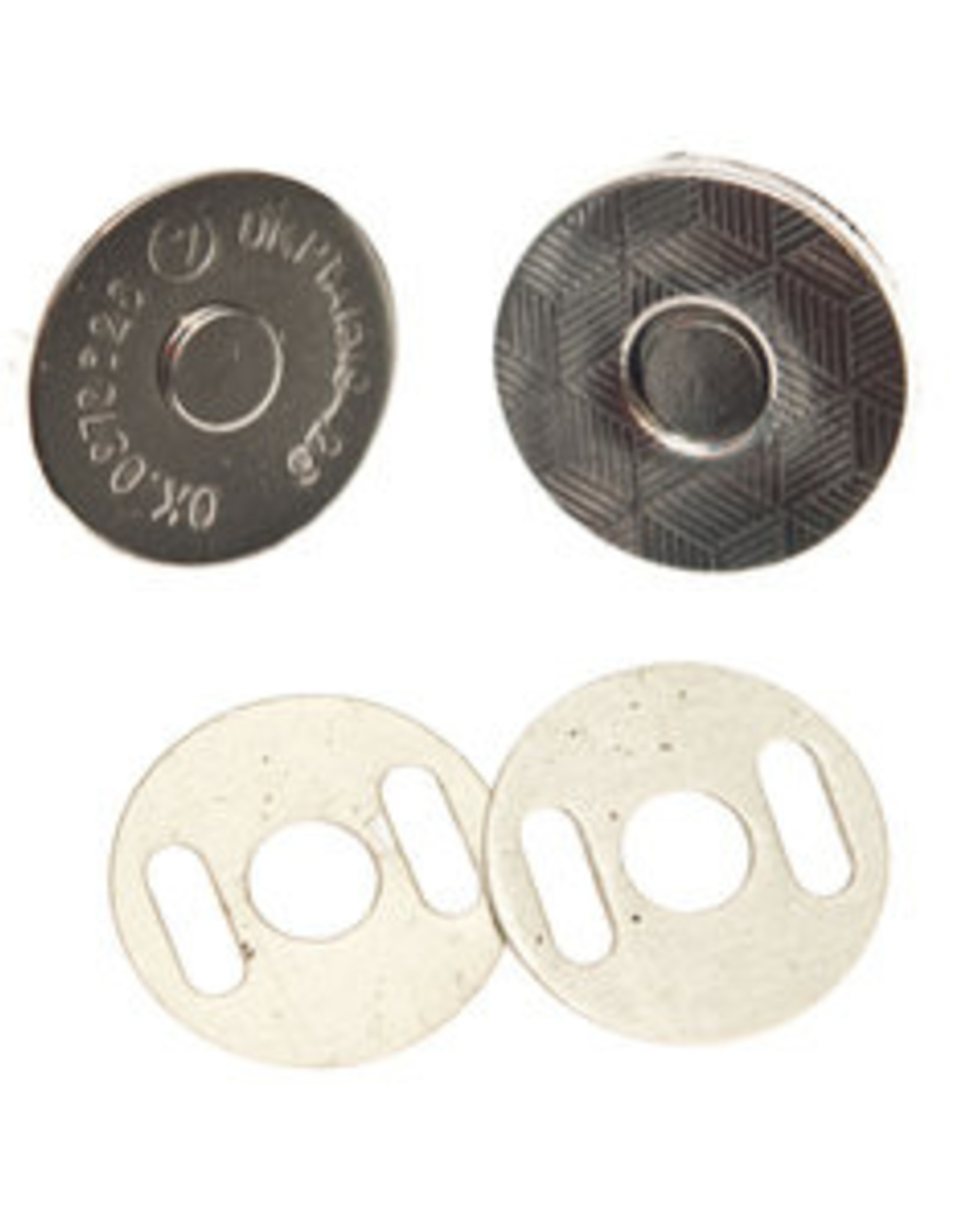 magneetsluiting 14mm zilver extra plat en stevig