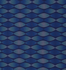 Lines and dots donkerblauw