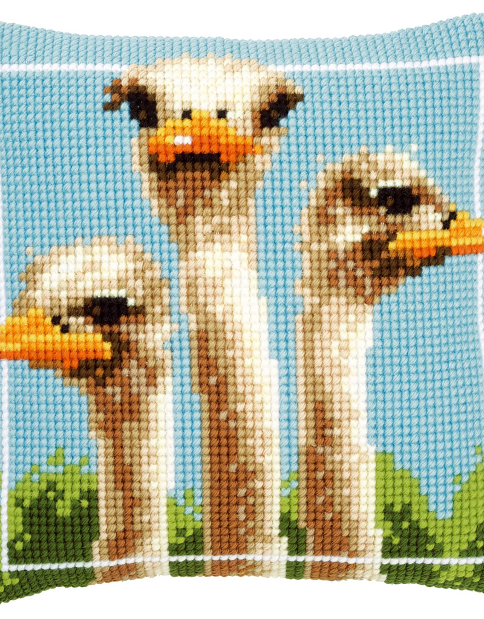 X-steekkussen struisvogels
