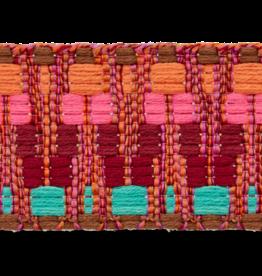 Rassenband roze bordeaux groen