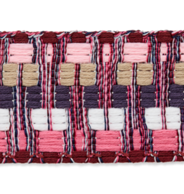 Tassenband roze wit bordeaux
