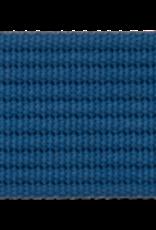 Tassenband blauw geribbeld