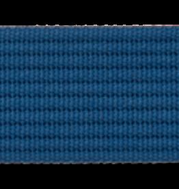 Tassenband blauw met fijn zwart streepje
