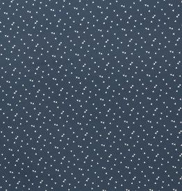 blauw met witte driehoekjes