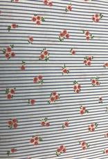 blauw gestreept met fijn bloempje