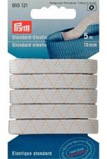 Prym standaard elastiek wit op kaart 10mm x 5m