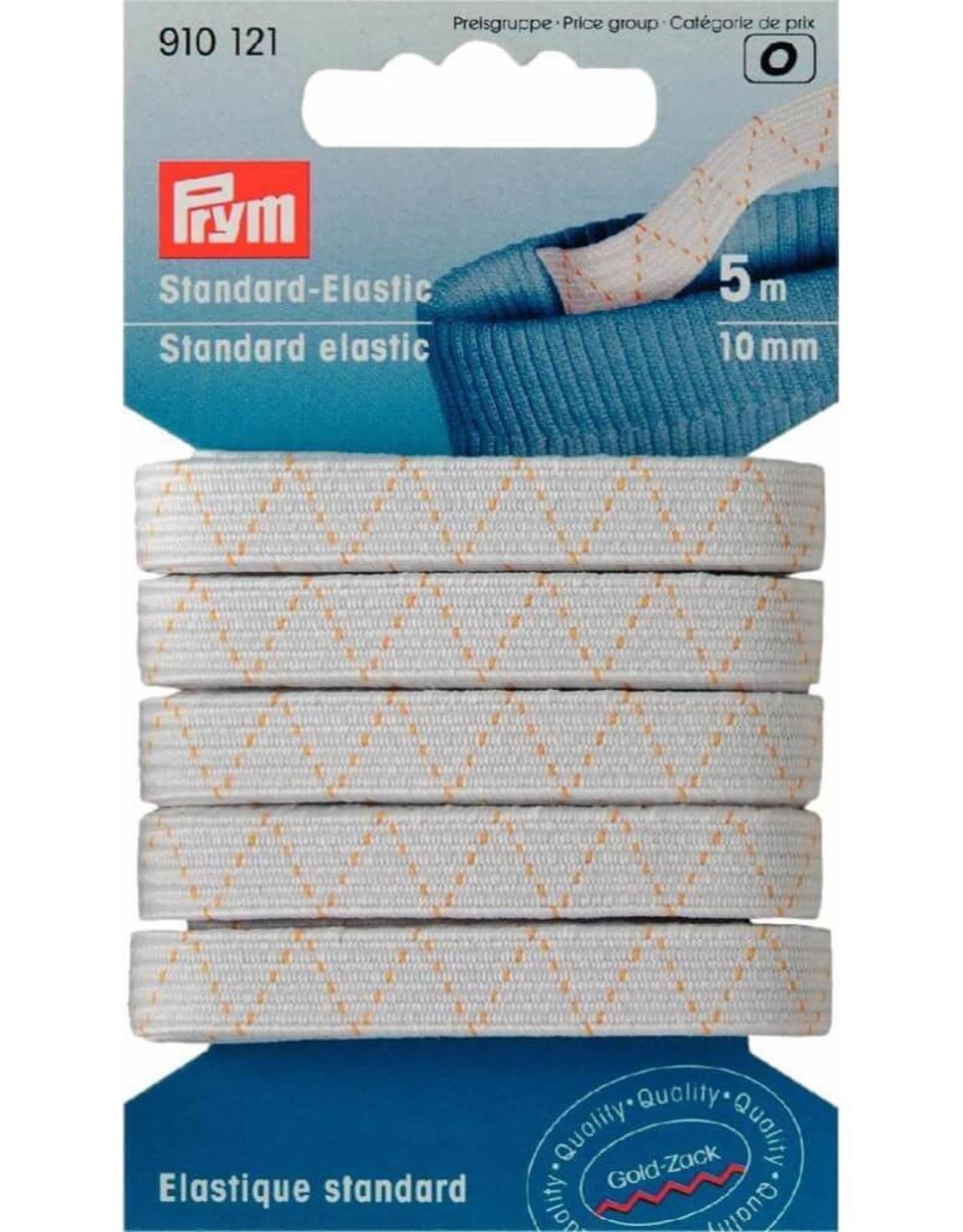 standaard elastiek wit op kaart 10mm x 5m