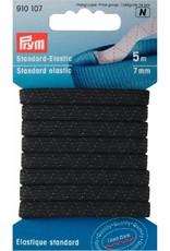 elastiek zwart op kaart 7mm