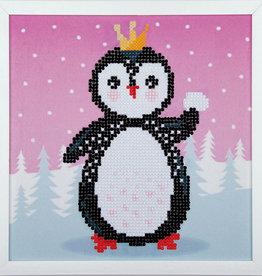 Diamond painting kit pinguïn