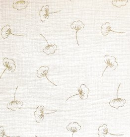 Katia Mousseline gold cotton flower