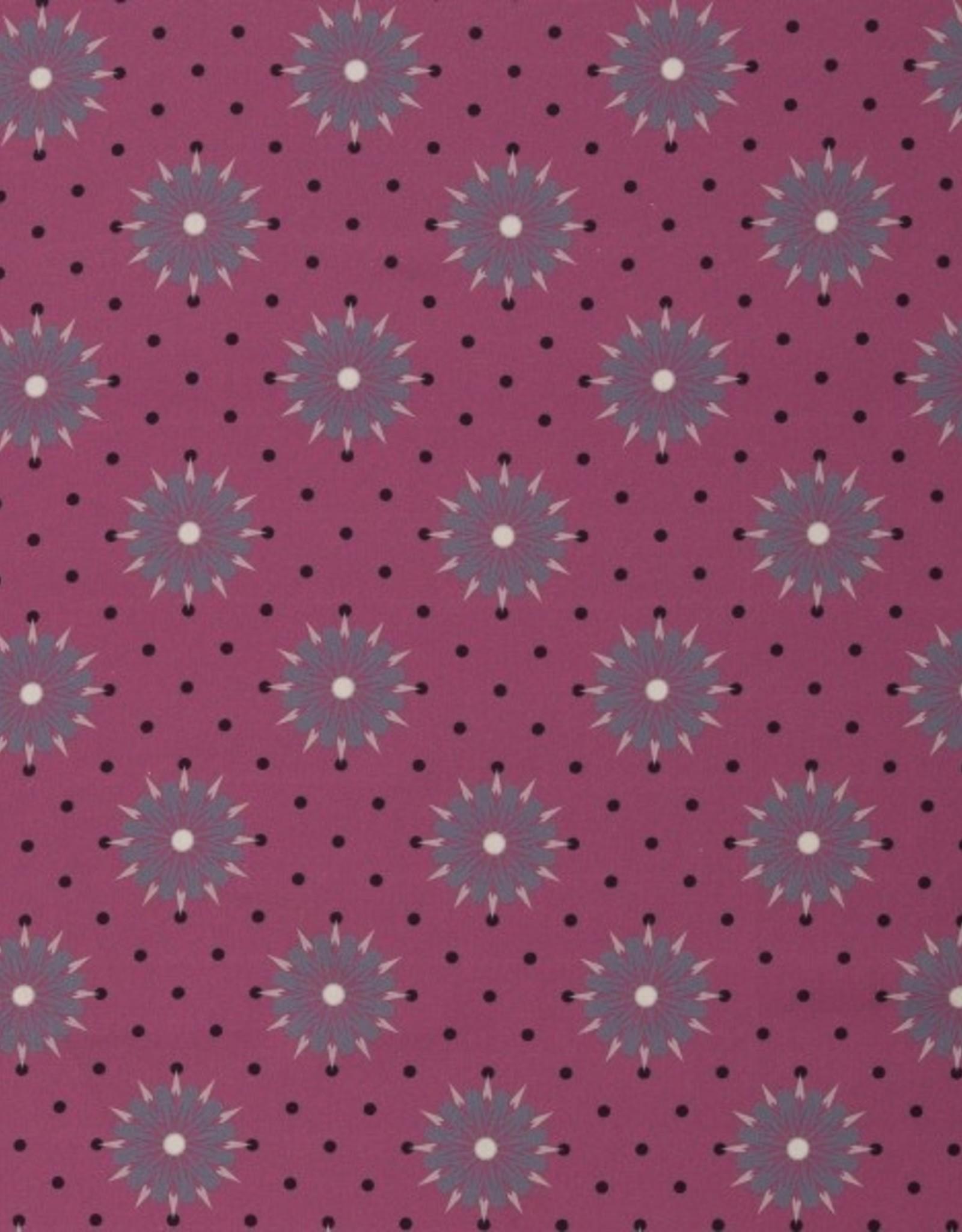 Fuchsia stars and dots