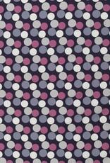 Pink grey dots small