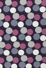 Pink grey dots large