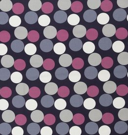 Pink grey dots large