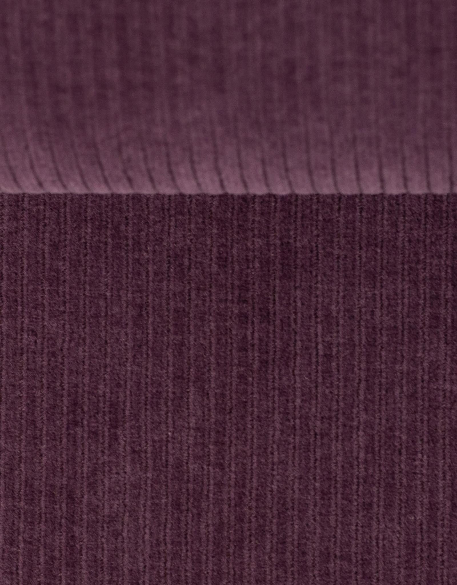 Ribfluweel stretch paars