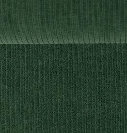 Ribfluweel stretch donker mint