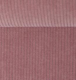 Ribfluweel stretch oud roze
