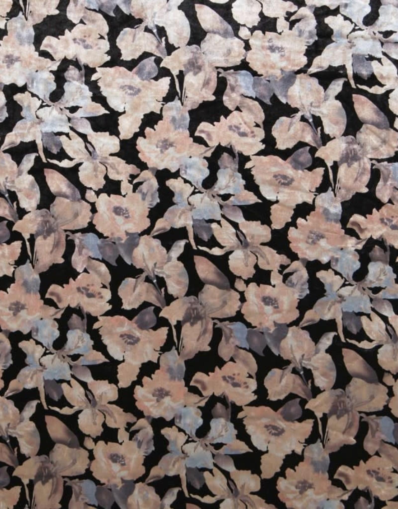 Velvet flower print