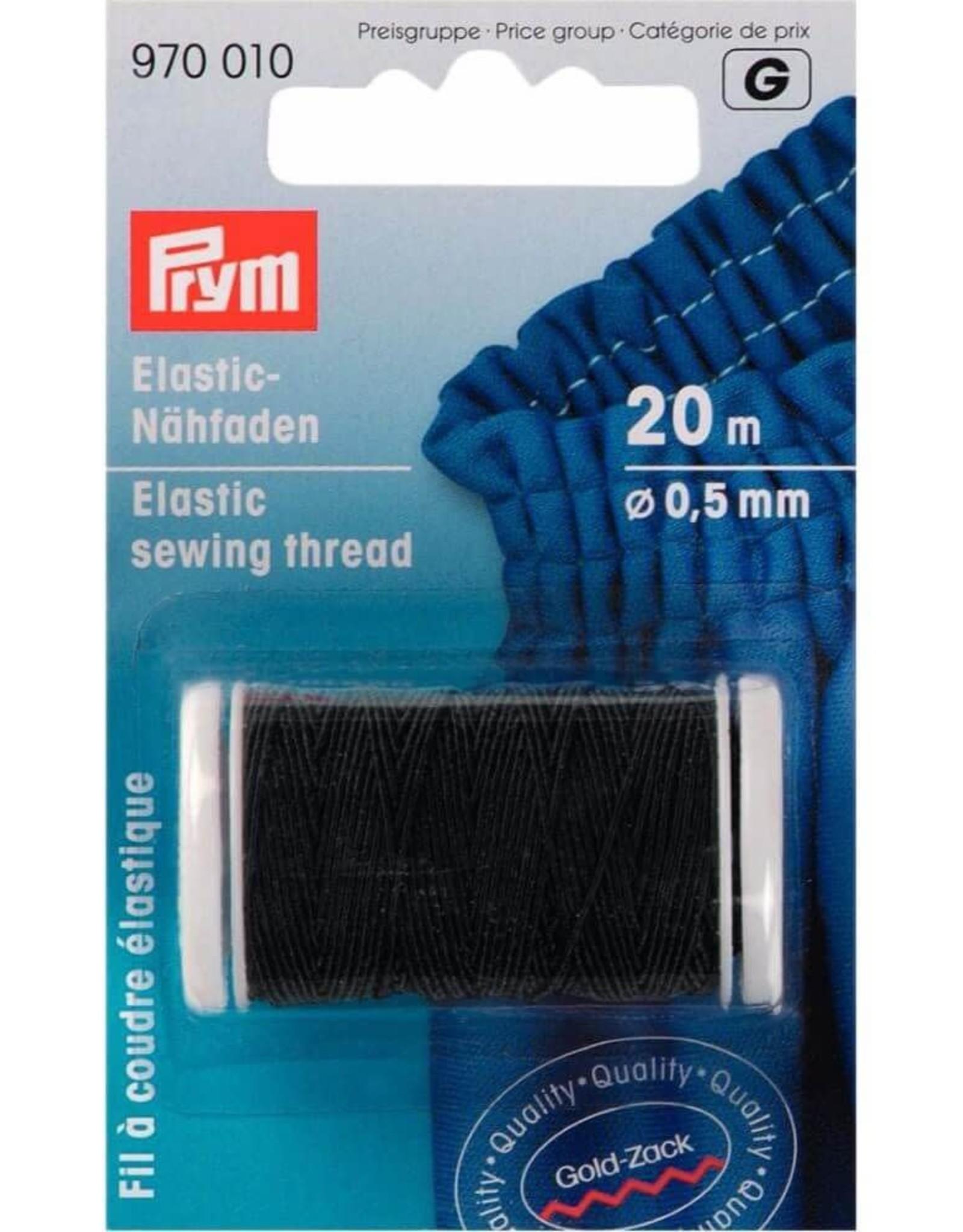Prym elastisch naaigaren 0.5mm zwart