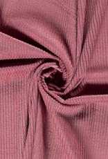 Ribfluweel old pink