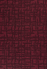 Tricot abstract bordeaux zwart