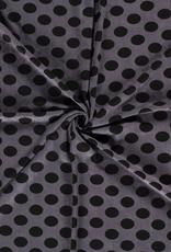 Jacquard donkergrijs zwarte bollen