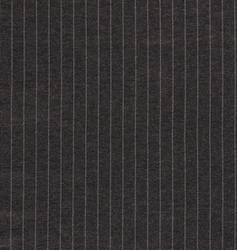 Polyesterviscose gestreept donkergrijs
