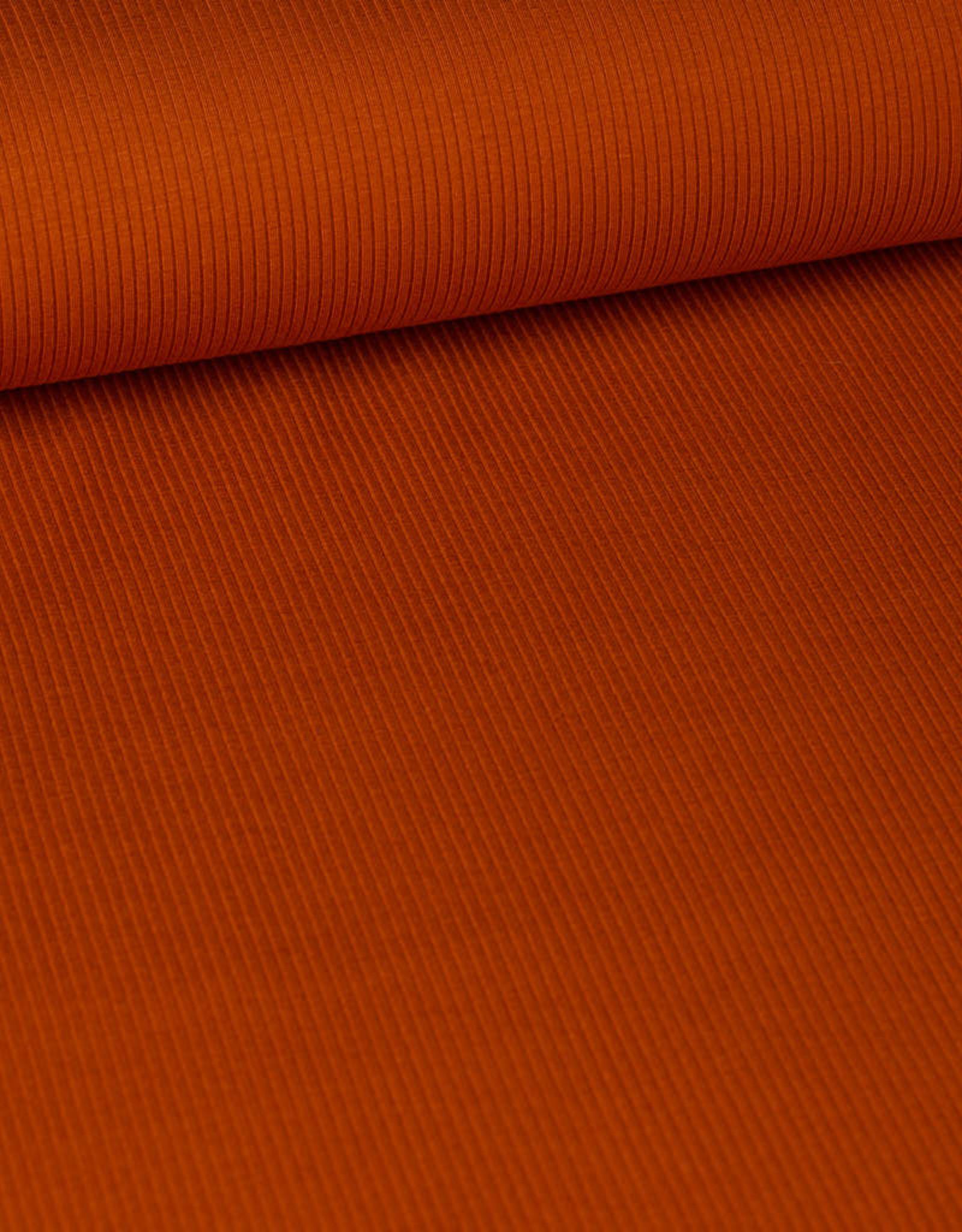 Fibre Mood FM viscose ribbeltricot oranje