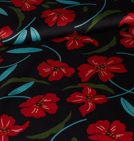 Satijn rode bloemen
