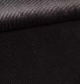 Ribfluweel zwart