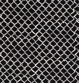 Viscose jersey zwart raster