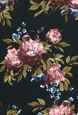 Crepe flowers dark green