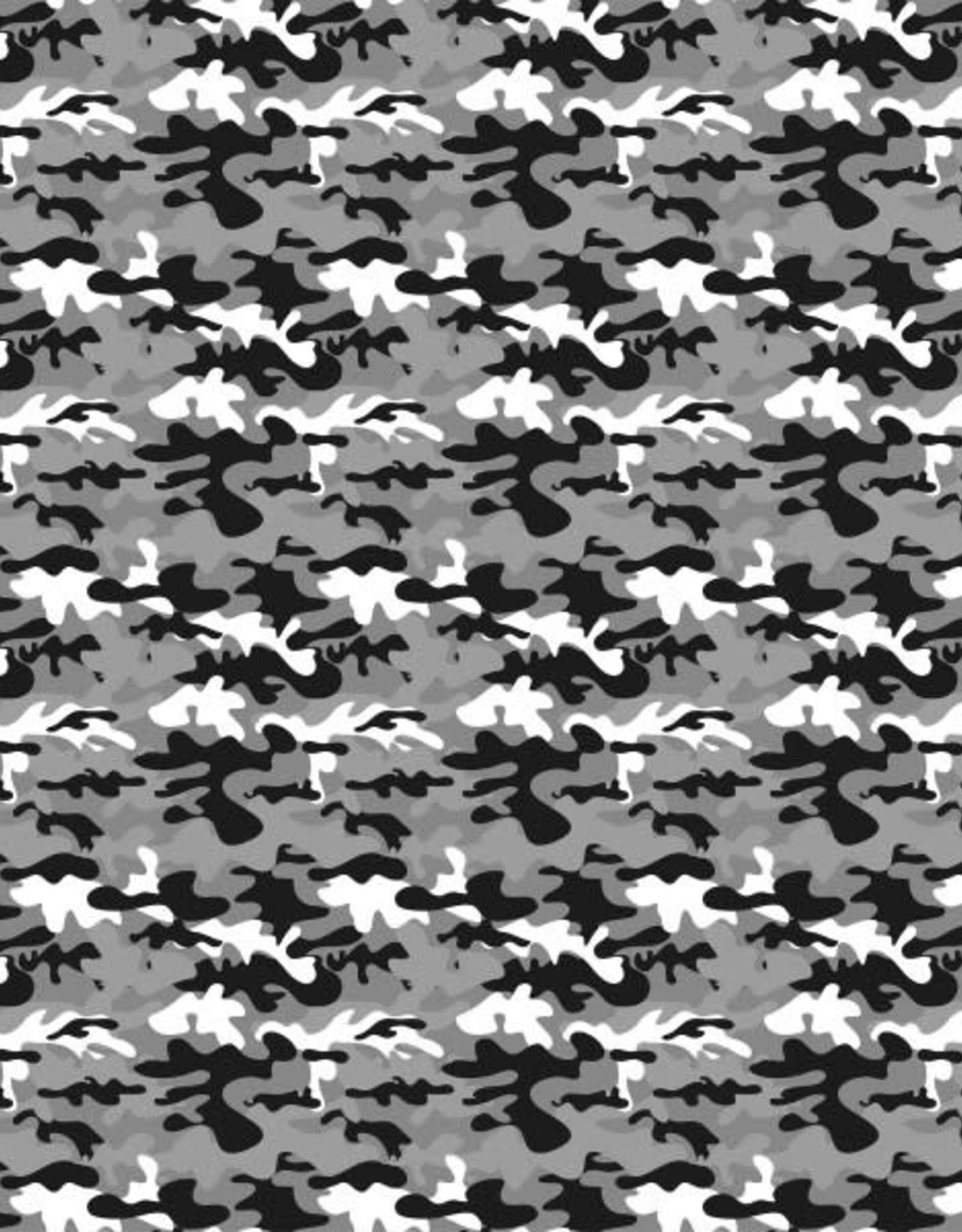 Katoen camouflage grijs