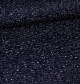 Donkerblauw gebreid met glitter